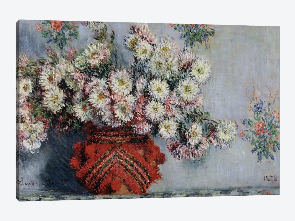 Chrysanthemums, 1878  by Claude Monet 1-piece Canvas Artwork