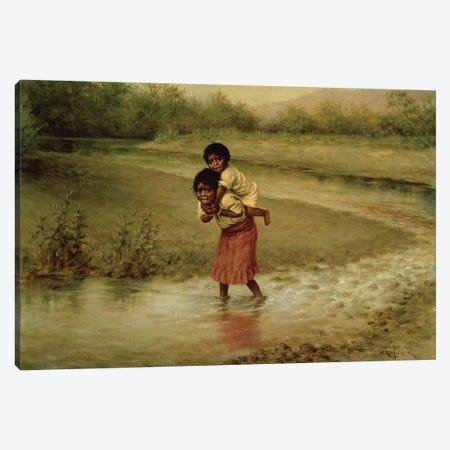 Eva and Greenie, 1904  Canvas Print #BMN4832} by Grace Carpenter Hudson Art Print
