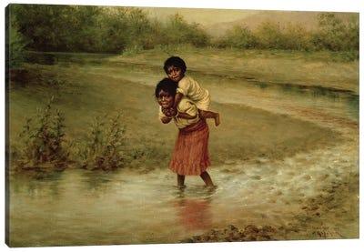 Eva and Greenie, 1904  Canvas Art Print
