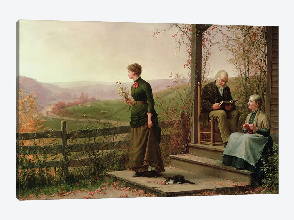 Love's Young Dream, 1887  by Jennie Augusta Brownscombe 1-piece Art Print