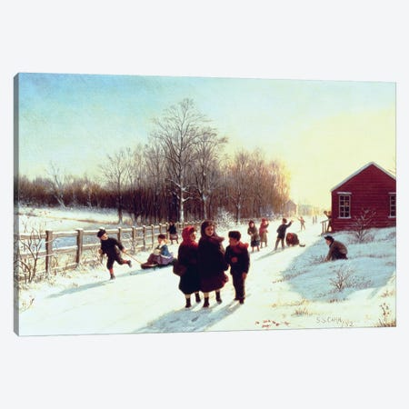 School's Out, 1882 Canvas Print #BMN4836} by Samuel S. Carr Canvas Artwork