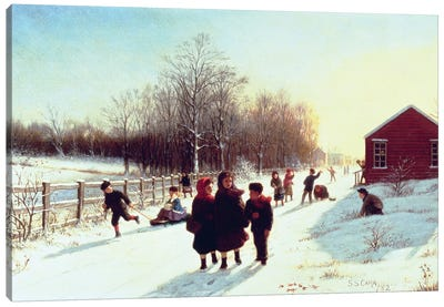 School's Out, 1882 Canvas Art Print