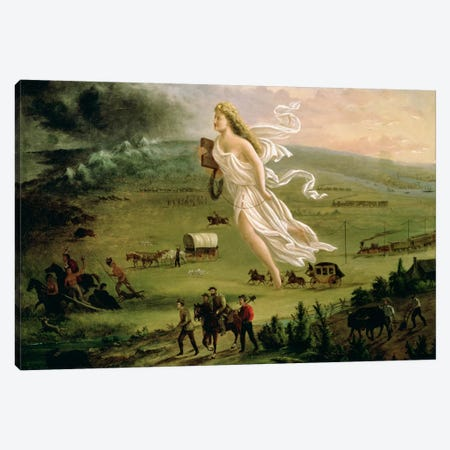 American Progress, 1872  Canvas Print #BMN4837} by John Gast Canvas Art