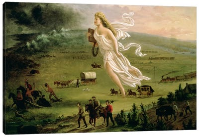 American Progress, 1872  Canvas Art Print