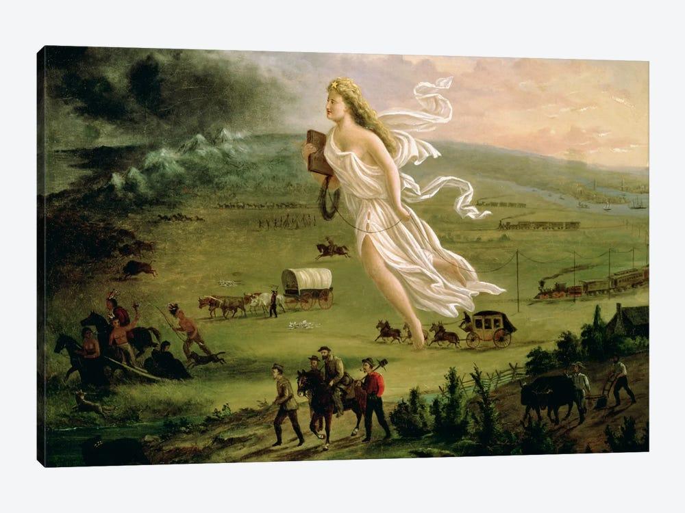 American Progress, 1872  by John Gast 1-piece Canvas Artwork