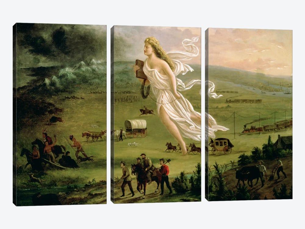 American Progress, 1872  by John Gast 3-piece Canvas Art