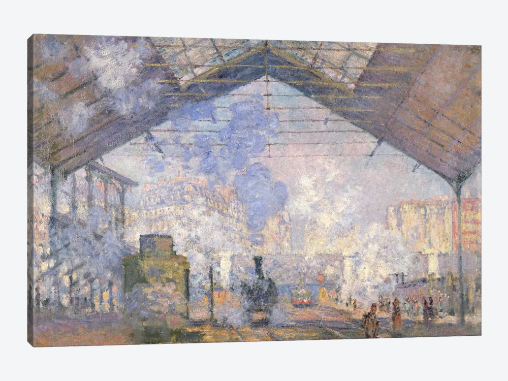 The Gare St. Lazare, 1877  by Claude Monet 1-piece Canvas Art Print