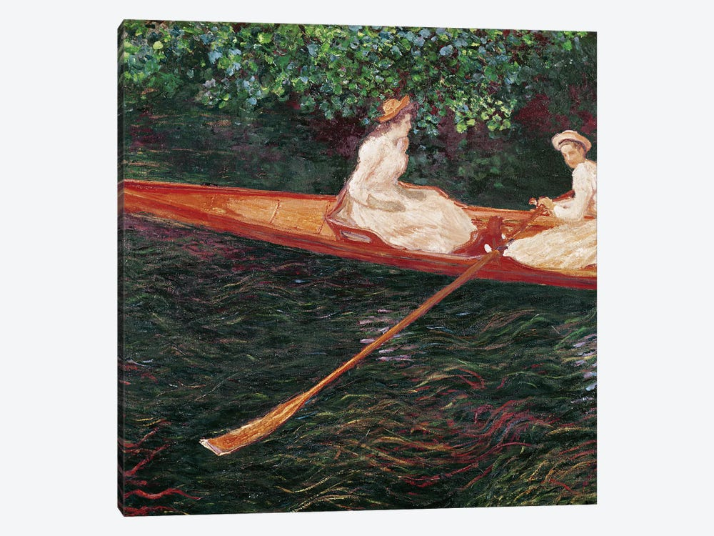 Boating on the river Epte, c.1889-1890  by Claude Monet 1-piece Canvas Print