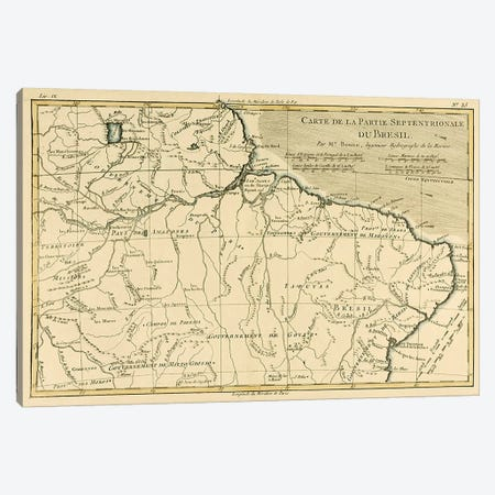 Northern Brazil Canvas Print #BMN4880} by Charles Marie Rigobert Bonne Canvas Art