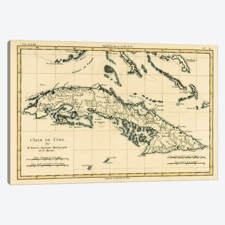 Cuba Canvas Print #BMN4881} by Charles Marie Rigobert Bonne Canvas Art