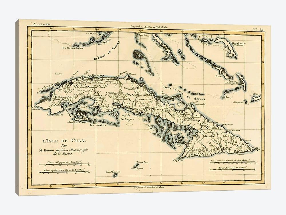 Cuba by Charles Marie Rigobert Bonne 1-piece Canvas Art Print