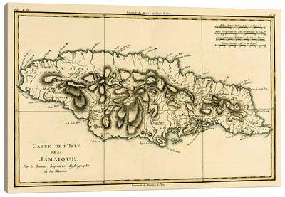 The Island of Jamaica Canvas Art Print