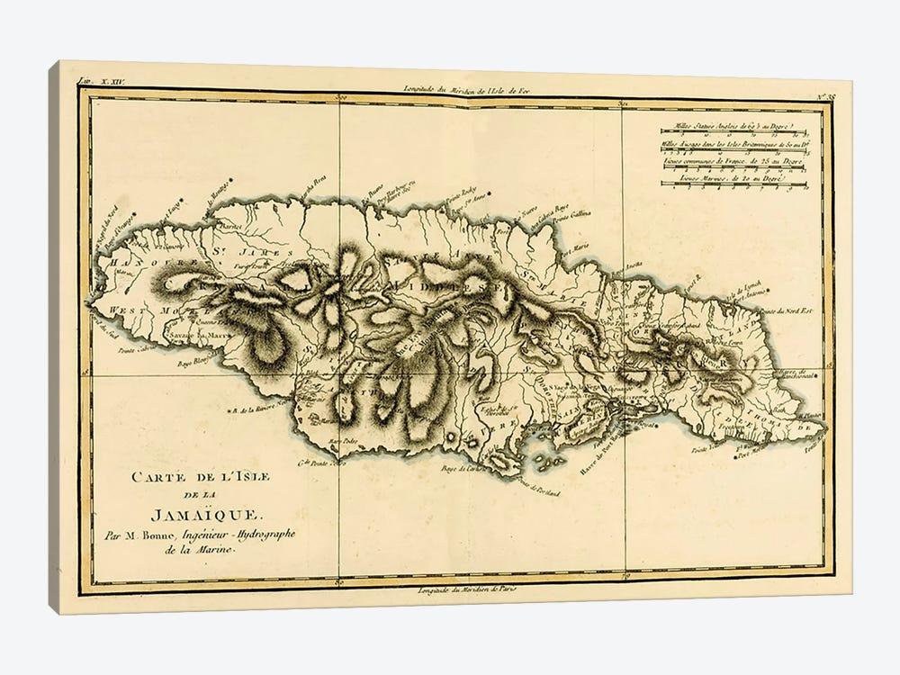 The Island of Jamaica by Charles Marie Rigobert Bonne 1-piece Canvas Wall Art