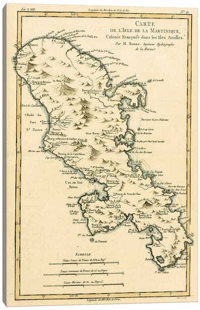The Island of Martinique Canvas Art Print