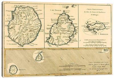 The Islands of Rodriguez, Isle de France and Bourbon Canvas Print #BMN4888
