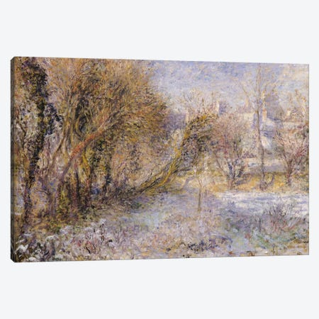 Snowy Landscape  Canvas Print #BMN488} by Pierre-Auguste Renoir Canvas Wall Art