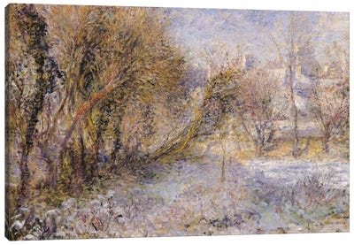 Snowy Landscape Canvas Art Print