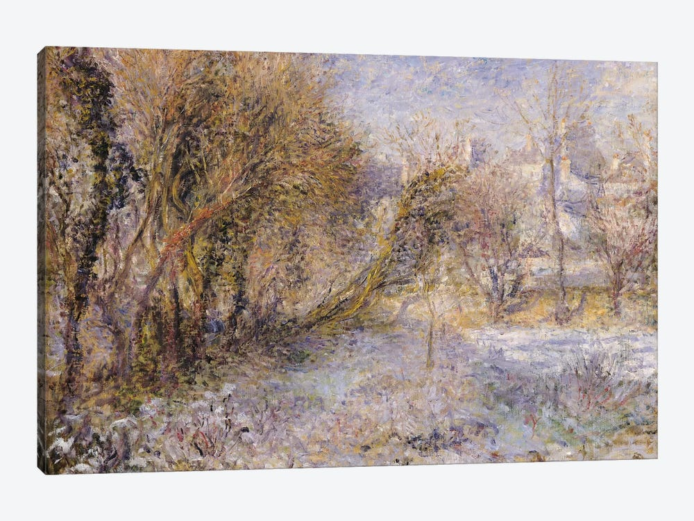 Snowy Landscape  by Pierre-Auguste Renoir 1-piece Canvas Art
