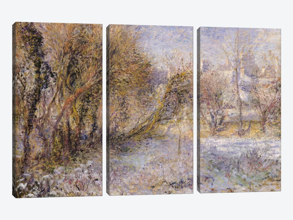 Snowy Landscape  by Pierre-Auguste Renoir 3-piece Canvas Art