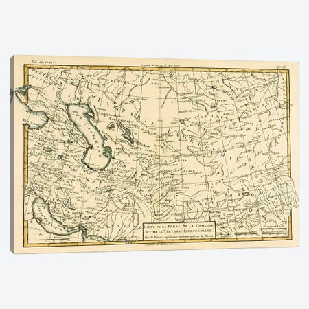 Persia, Georgia and Independent Tartary Canvas Print #BMN4890} by Charles Marie Rigobert Bonne Art Print