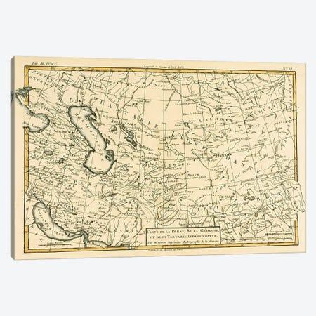 Persia, Georgia and Independent Tartary Canvas Print #BMN4890} by Charles Marie Rigobert Bonne Art Print