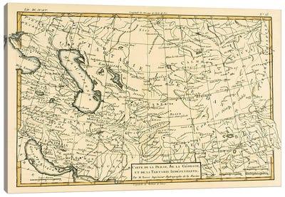 Persia, Georgia and Independent Tartary Canvas Art Print