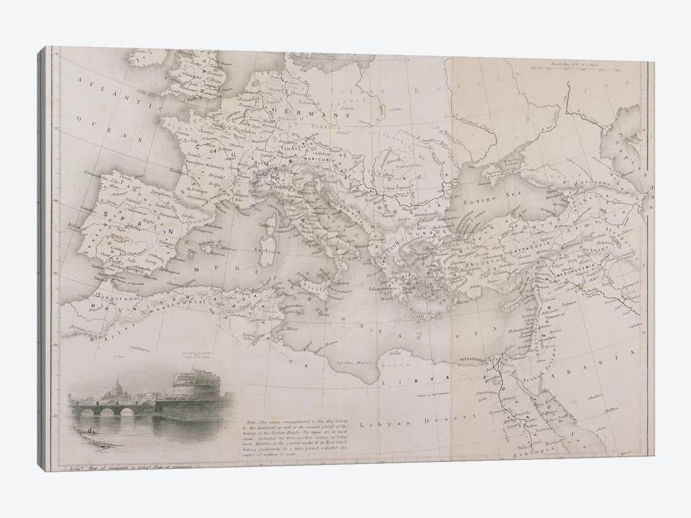 The Roman Empire, c.1850  by W Hughes 1-piece Canvas Artwork