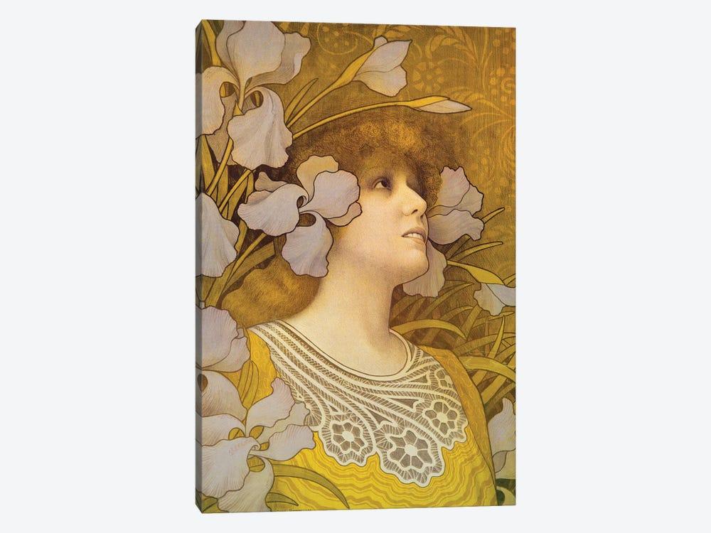 Sarah Bernhardt  by Paul Berthon 1-piece Canvas Artwork