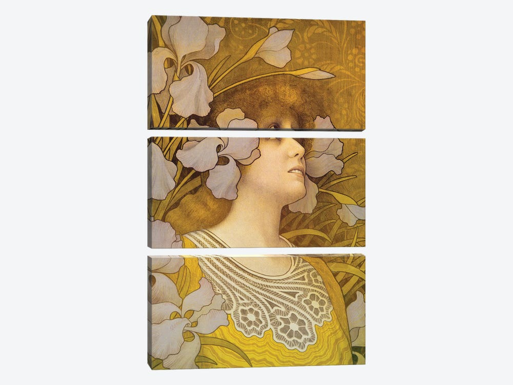 Sarah Bernhardt  by Paul Berthon 3-piece Canvas Art