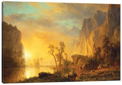 Sunset in the Rockies  Canvas Art Print