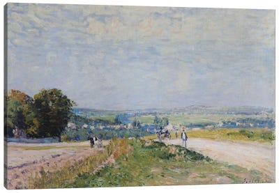 The Road to Montbuisson at Louveciennes, 1875  Canvas Art Print
