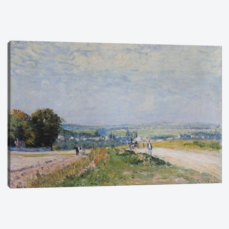 The Road to Montbuisson at Louveciennes, 1875  3-Piece Canvas #BMN489} by Alfred Sisley Canvas Wall Art