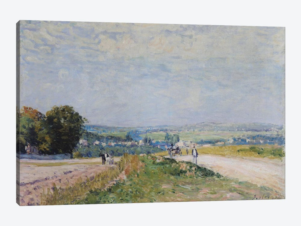 The Road to Montbuisson at Louveciennes, 1875  by Alfred Sisley 1-piece Art Print