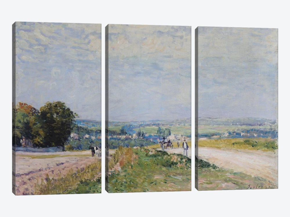 The Road to Montbuisson at Louveciennes, 1875  by Alfred Sisley 3-piece Canvas Art Print