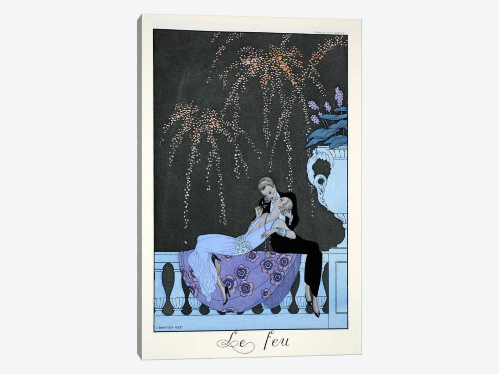 Fire, from 'Falbalas & Fanfreluches, Almanach des Modes Présentes by Georges Barbier 1-piece Canvas Art