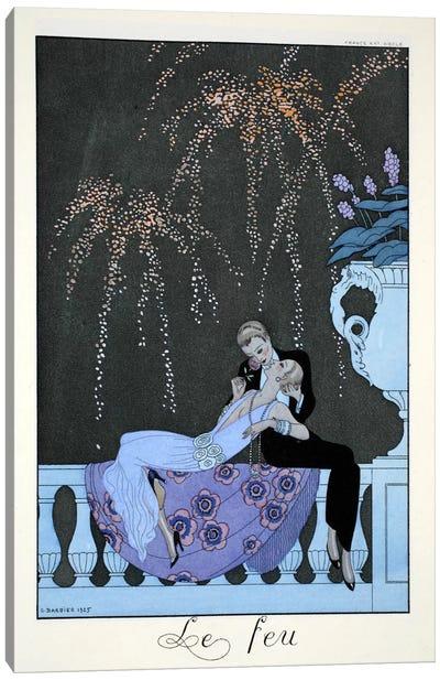 Fire, from 'Falbalas & Fanfreluches, Almanach des Modes Présentes Canvas Art Print