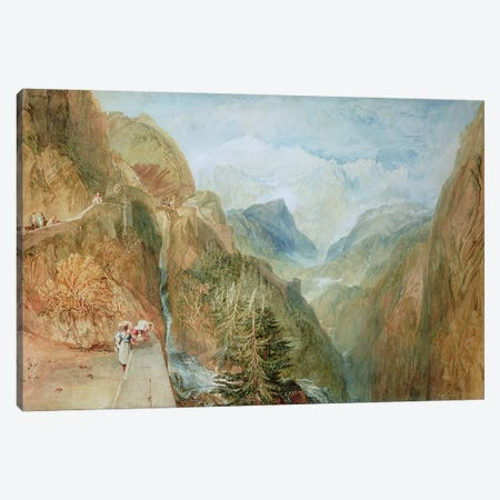 Mont Blanc from Fort Rock in Val D'Aosta, c.1810 Canvas Print #BMN4900} by J.M.W. Turner Canvas Print