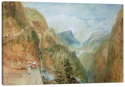 Mont Blanc from Fort Rock in Val D'Aosta, c.1810 Canvas Art Print