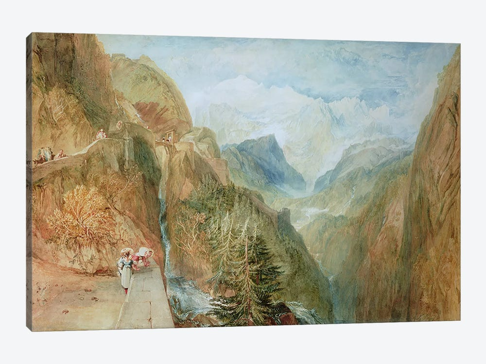 Mont Blanc from Fort Rock in Val D'Aosta, c.1810 by J.M.W Turner 1-piece Canvas Print