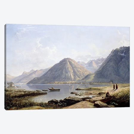View of Lake Geneva with the Town of Villeneuve, 1836  Canvas Print #BMN4901} by Francis Danby Art Print