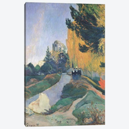 The Alyscamps, Arles, 1888  Canvas Print #BMN490} by Paul Gauguin Art Print