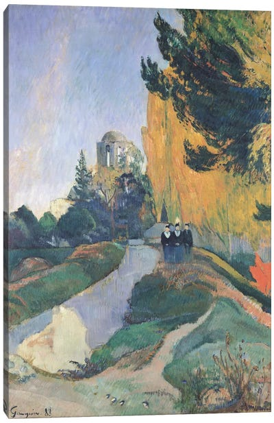 The Alyscamps, Arles, 1888  Canvas Art Print
