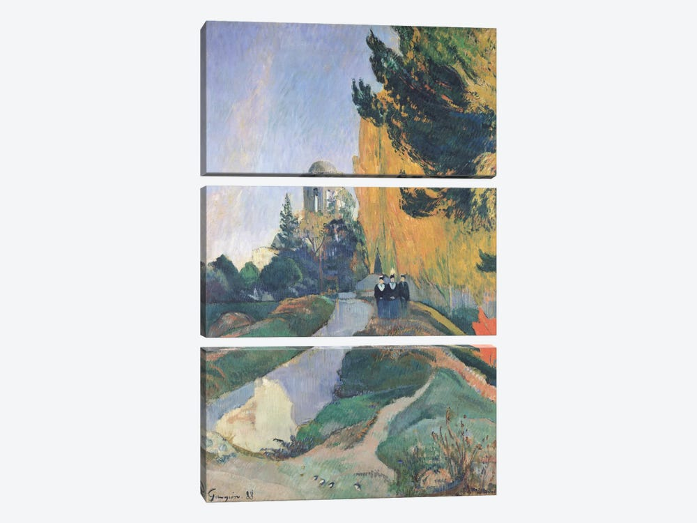 The Alyscamps, Arles, 1888 by Paul Gauguin 3-piece Art Print