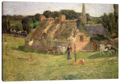 Lollichon's Field and the Church of Pont-Aven, 1886 Canvas Art Print