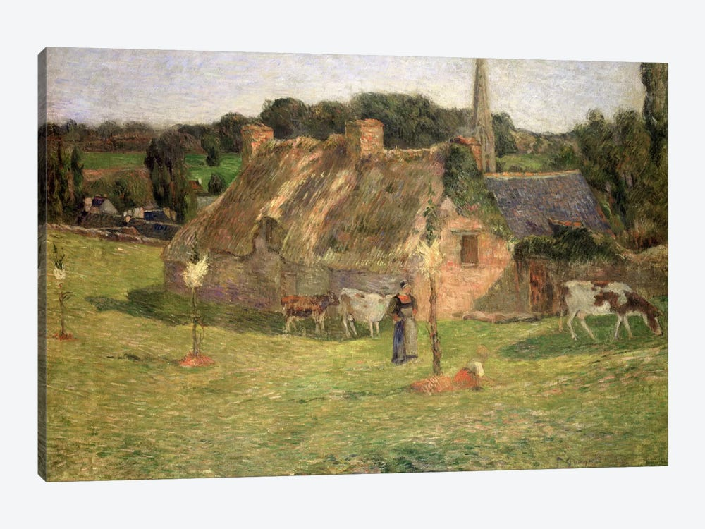 Lollichon's Field and the Church of Pont-Aven, 1886 by Paul Gauguin 1-piece Canvas Wall Art