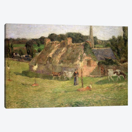 Lollichon's Field and the Church of Pont-Aven, 1886  Canvas Print #BMN4912} by Paul Gauguin Canvas Art