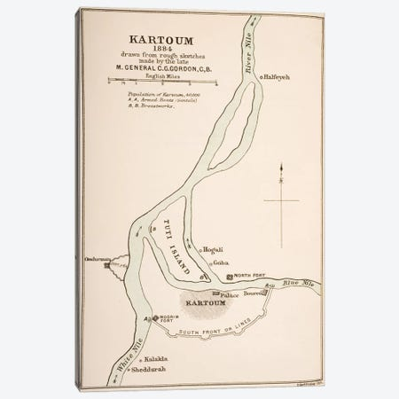 Kartoum, Sudan, 1884, From The Journals of Major-General C.G. Gordon Canvas Print #BMN4914} by General Charles Gordon Art Print