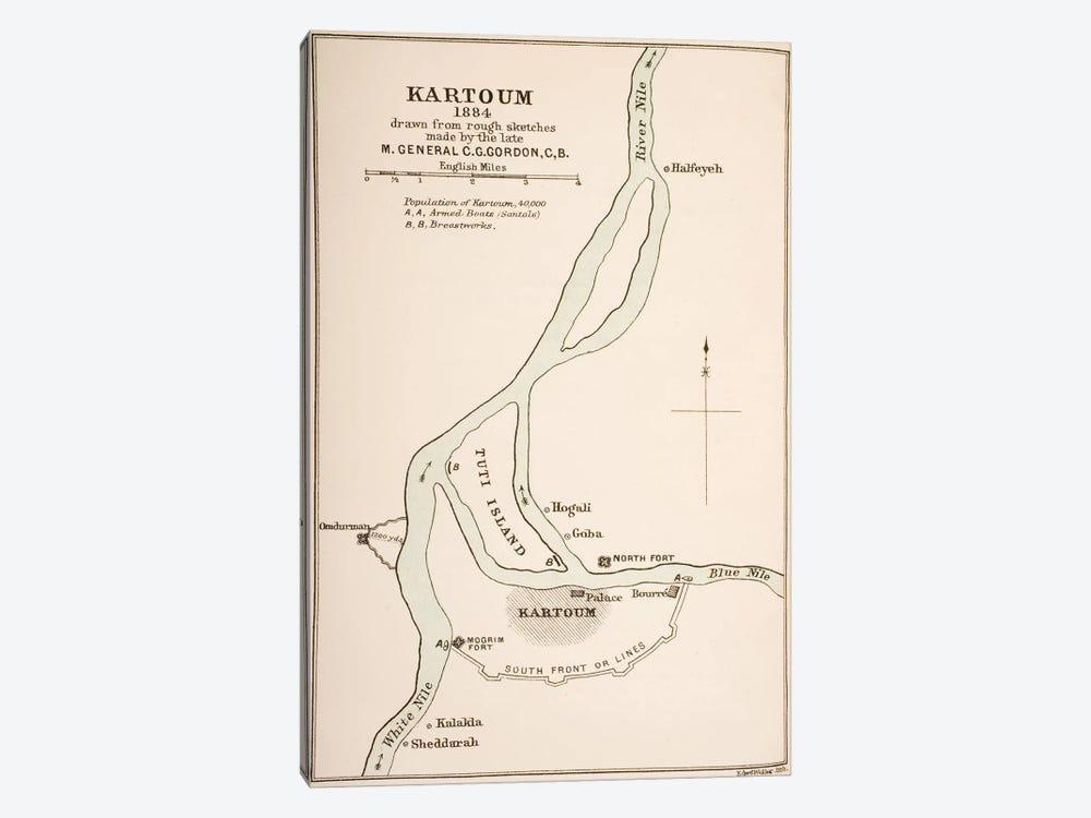 Kartoum, Sudan, 1884, From The Journals of Major-General C.G. Gordon by General Charles Gordon 1-piece Canvas Artwork