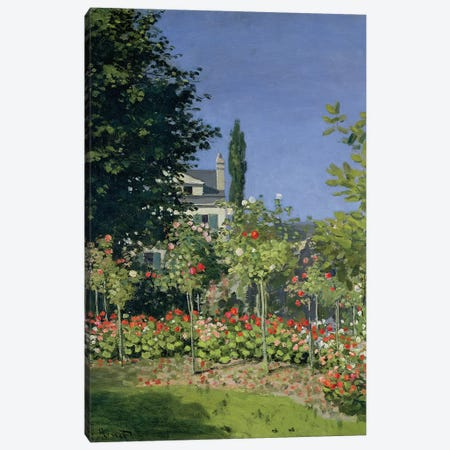 Flowering Garden at Sainte-Adresse, c.1866  Canvas Print #BMN491} by Claude Monet Canvas Art Print