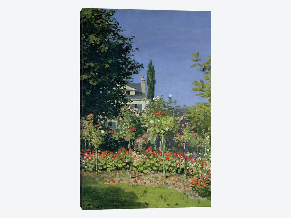 Flowering Garden at Sainte-Adresse, c.1866  by Claude Monet 1-piece Canvas Wall Art